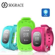 Sograce умные часы детские часы Q50 с Wi-Fi SOS gps вызова местоположения анти-потерянный часы телефон для Smartwatch дети для мальчиков и девочек