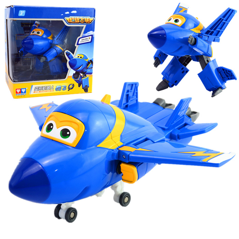 Image 4 - NEW Arrival Big 15cm ABS Super Wings Deformation Airplane Robot Transformation Action Figures Toys for Children Gift Brinquedosfigure toyaction figure toystoys for -