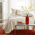 AIOU Ivory White King Size Bedspread Coverlet Comforter Cotton 3pcs Quilt Set With Pillow Shams