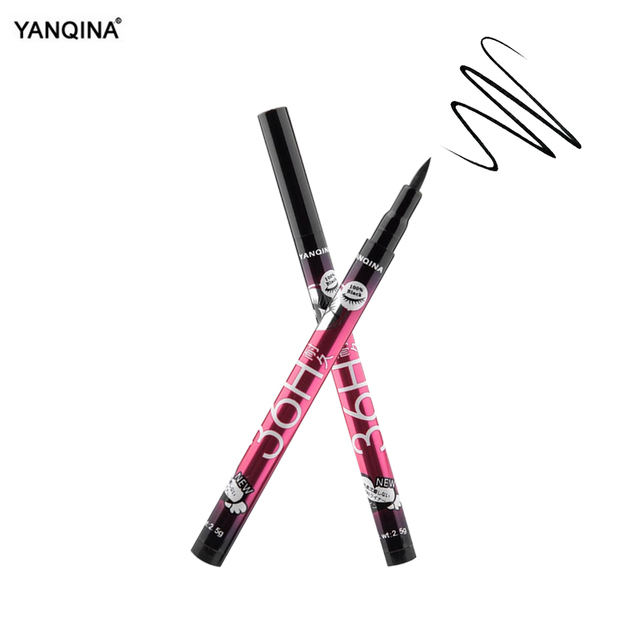 YANQINA 36H Black Waterproof Liquid Eyeliner Make Up Beauty Comestics Long-lasting Eye Liner Pencil Makeup Tools for eyeshadow 5