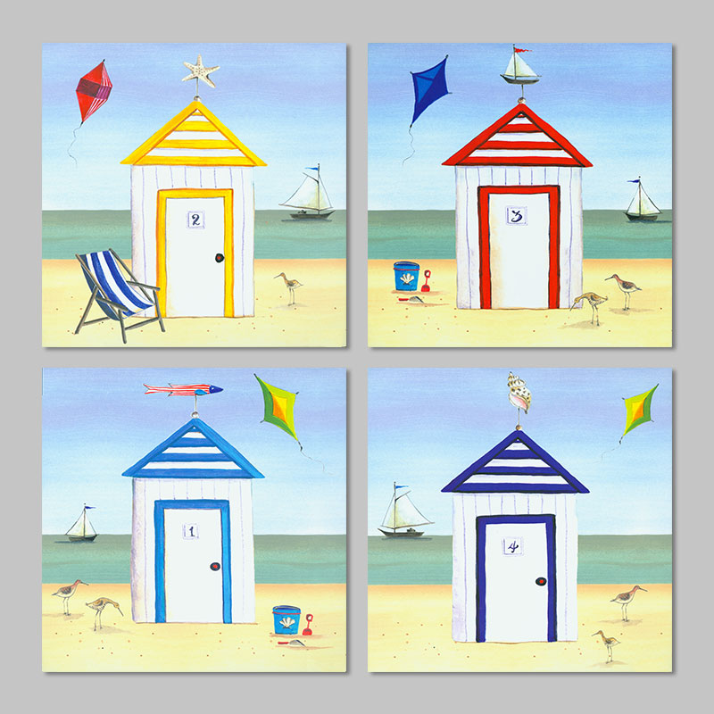 Amazing 4 Colors Doors Beach Landscape Decoration Seascape Starfish Birds Wall Art  Picture Kite Canvas Painting Living Room Unframed