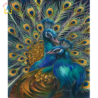 Diamond Embroidery Peacock Picture Canvas Painting Complete Rhinestones 5D Diamond Mosaic Cross Stitch Home Decoration SK440