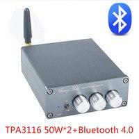 แบรนด์ใหม่BL10A TPA3116บลูทูธ4.0ไฮไฟไฟฟ้าดิจิตอล50วัตต์+ 50วัตต์12โวลต์สำเร็จรูปAmplificadorบ้านแอมป์เศษไม