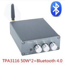 Marque Nouveau BL10A TPA3116 Bluetooth 4.0 Hifi Audio Numérique Amplificateur de Puissance 50 W + 50 W 12 V Fini Amplificador maison AMPLI Sliver