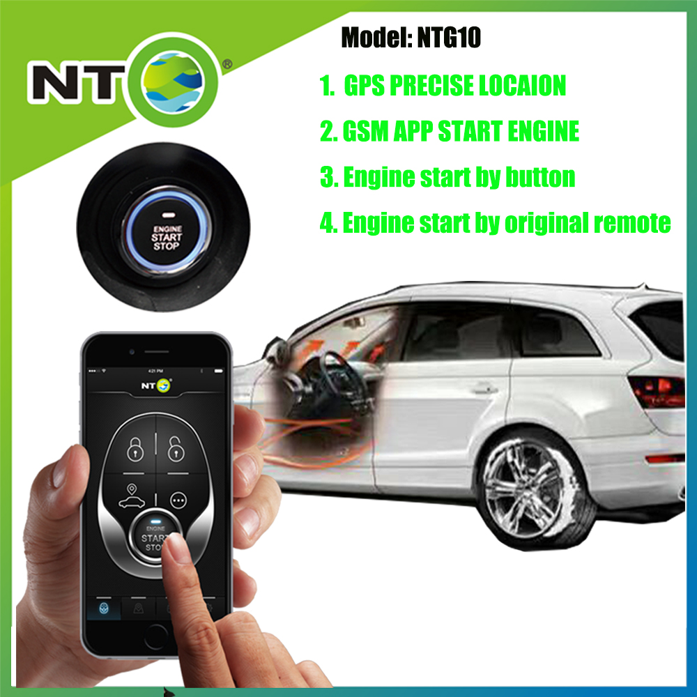 NTG10 RUSSIA HOT GPS GSM APP Start the engine by app, push button start by original remote controller location anywhere 450 hot start