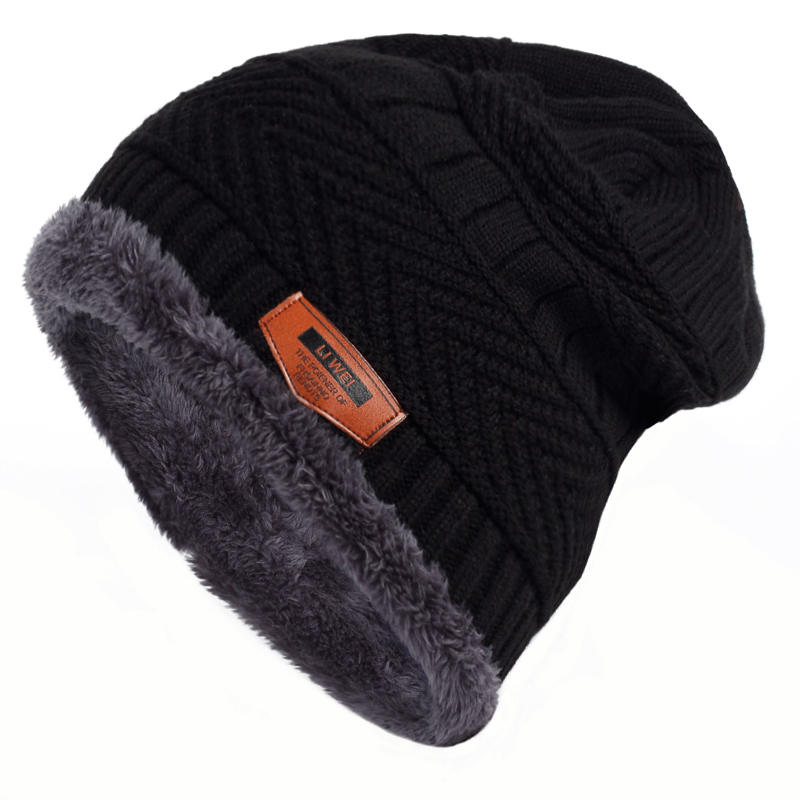 VORON Cool Beanies Cap Winter Hat For Men Women Warm Hat Fashion Knitted Cap Warm Wool Hat Cap Leisure Men Cap with cashmere