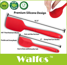WALFOS  food grade Non Stick butter cooking silicone spatula set cookie pastry kitchen cake baking