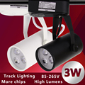 1pcs Black White Led Track Light 3W Commercial Lighting Renovation Led Ceiling Spot Lamp Clothing Store 3W 85-265V