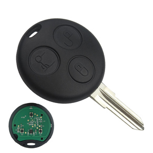 Image 5 - OkeyTech for Benz MB Mercedes Smart Fortwo 450 Forfour Roadster City Coupe 3 Button 433Mhz Uncut Blank Blade with Key Ring