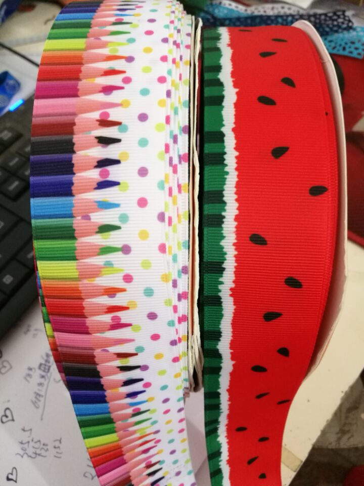 OOOT BAORICT 177191, cartoon grosgrain Ribbon,38MM ,10 yards The tape for Sewing ,DIY Headdress Accessories Handmade material