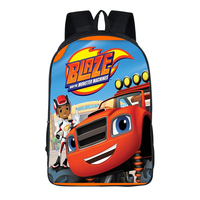 16 Inch Blaze Monster Machines Cars Backpack For Teenagers Boys Girls School Bags Women Men Travel