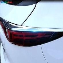 Для Mazda CX5 CX-5 2017-2019 Chrome Задняя Крышка Хвост свет лампы отделкой фонарь литья декоративные хромированные детали Frame век аксессуары