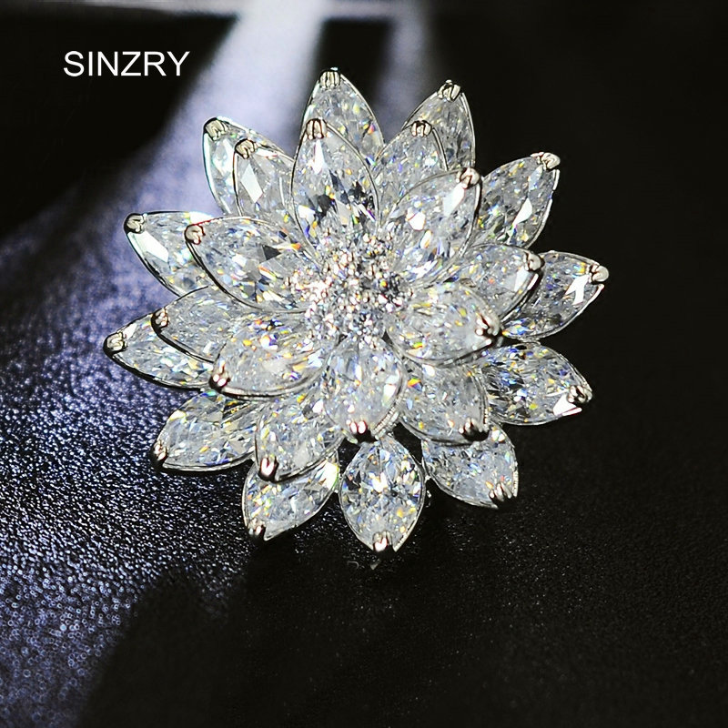 SINZRY elegant Dazzling costume jewelry accessory Popular Cubic zirconia snowflake suit brooches pin lady scarf buckles sinzry elegant new 2018 cubic zirconia yellow daisy flower suit brooches pin lady scarf buckle jewelry accessory for women