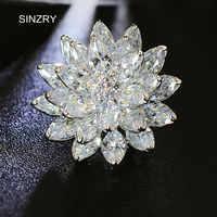SINZRY elegante Dazzling kostüm schmuck zubehör Beliebte zirkonia schneeflocke suit broschen pin dame schal schnallen