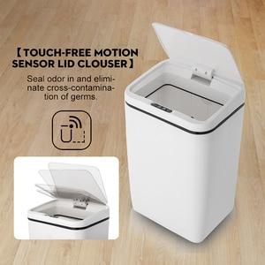 Image 4 - Capteur de mouvement à induction Intelligent sans contact automatique poubelle de cuisine capteur douverture large poubelle écologique
