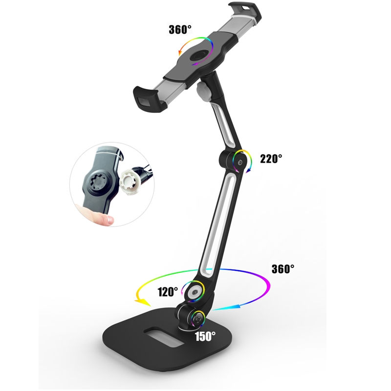 4 11 quot Desktop Tablet Stand Aluminum Tablet Holder Mount for iPad 9 7 2 3 4 Pro Air 2 Phone Bracket for Samsung Xiaomi iPhone x in Tablet Stands from Computer amp Office