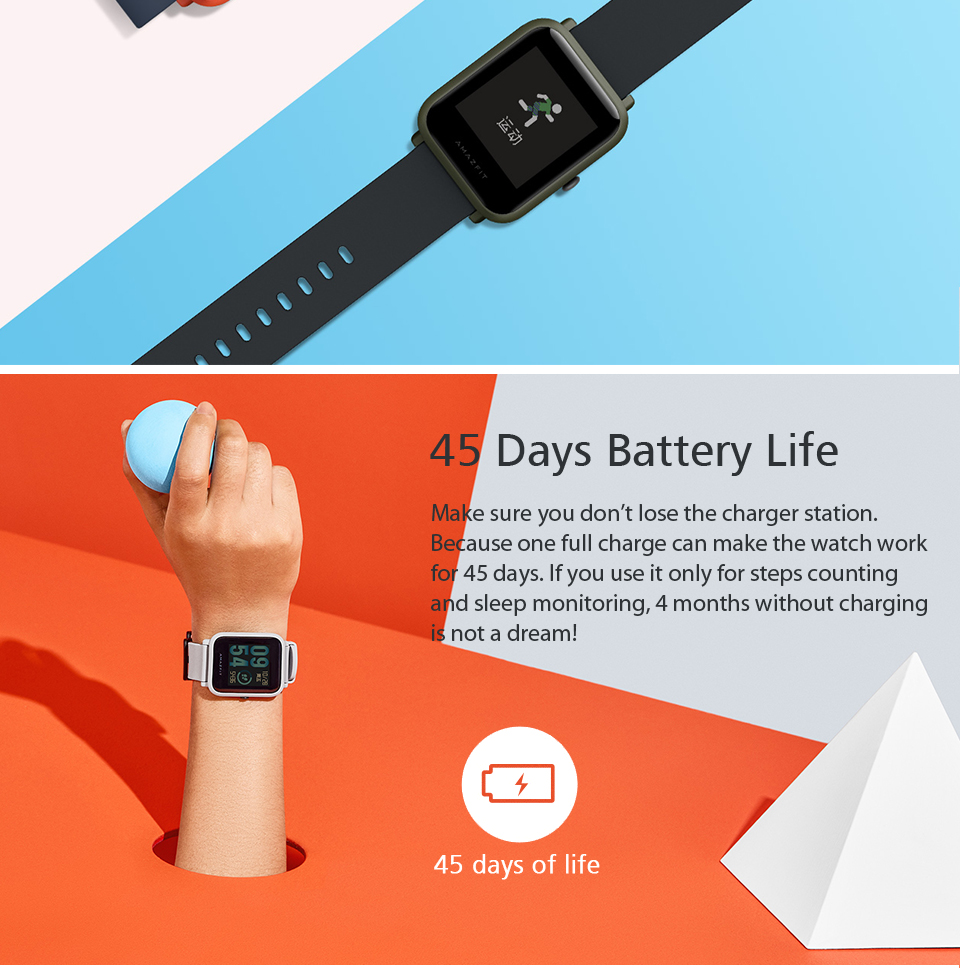 Huami Amazfit Bip Smart Watch With Reflection Color Screen IP68 Waterproof Technology And GPS for Android & iOS 3