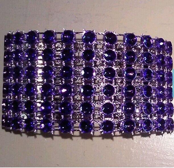 Вечерние на свадьбу, день рождения, 100 шт. фиолетовый горный хрусталь Bling Свадебные салфетки украшение из колец