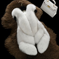 Luxuriuse Women Winter Real Fox Fur Vest Whole-hide Fox Fur Gilet Fashion Lady 2016 New Genuine Fur Jackets