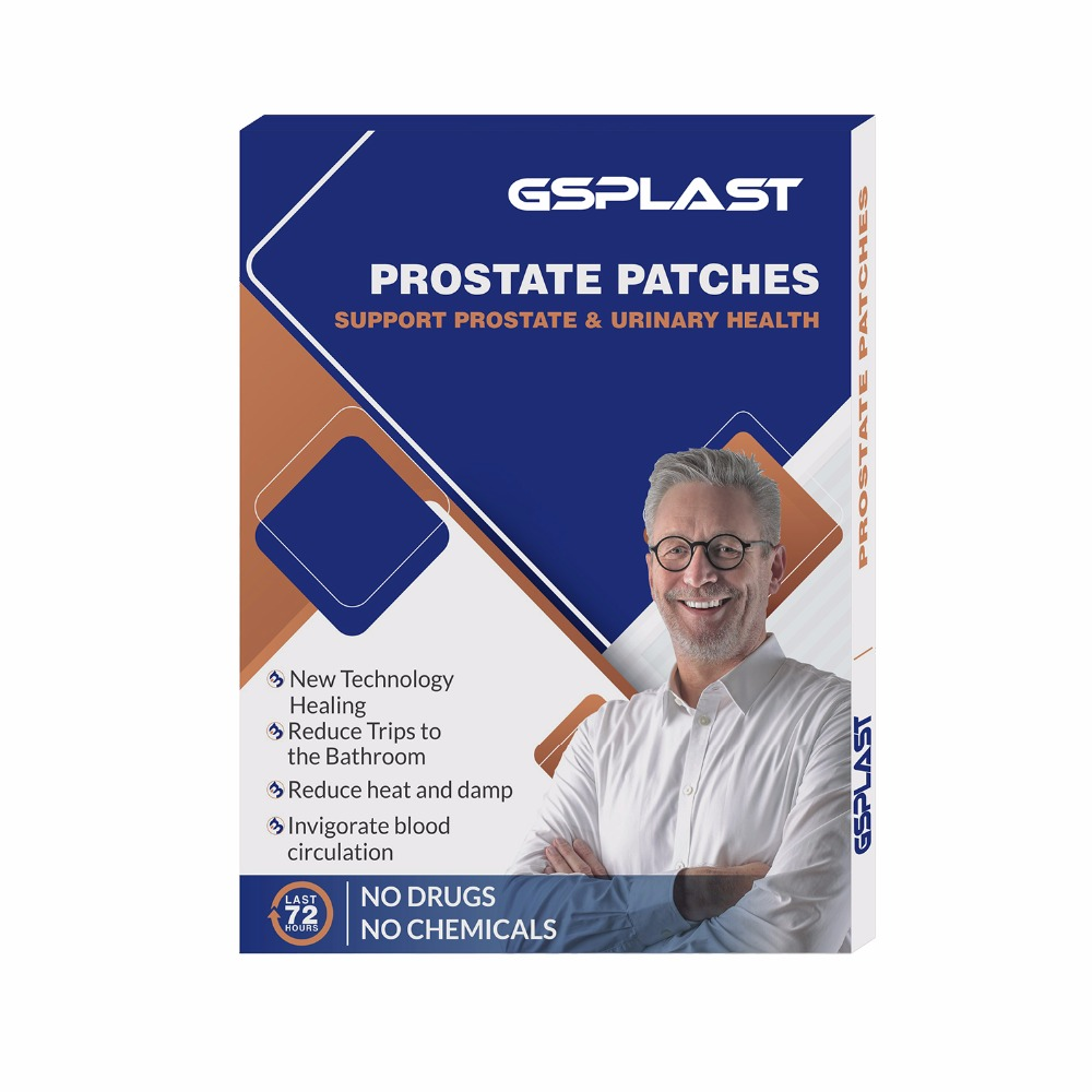 5pcs/Box Prostatic Navel Plaster Male Prostatic Treatment Health Care Chinese Medicine Herbal Medical Plaster Urological Patches packaging and labeling