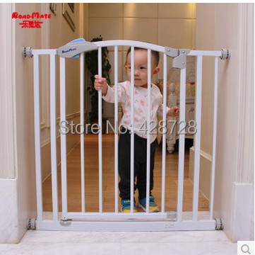 Hole digging child baby simple sniffle door fence pet stair gate 75 85cmd