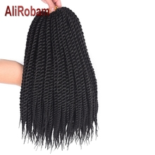 AliRobam Havana Twist Braid Gray/brown/red Braiding Hair Crochet Braids Ombre Color Synthetic Extensions 12 Roots/pack