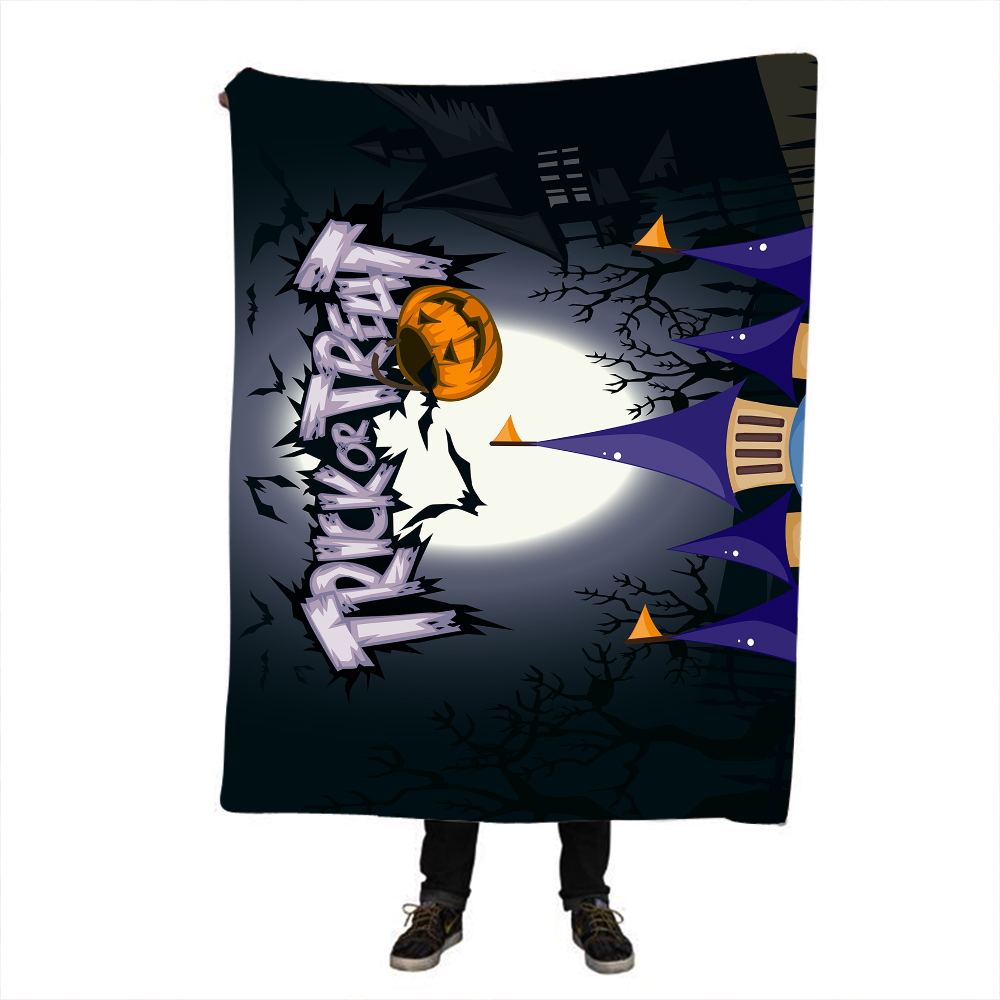 Halloween Throw Blanket Mandala Boho Bohemian Sherpa Fleece Bedding Velvet Black Blanket for Beds in Blankets from Home Garden