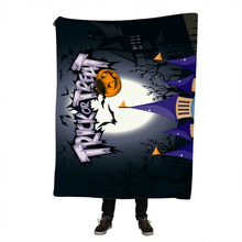 Halloween Throw Blanket Mandala Boho Bohemian Sherpa Fleece Bedding Velvet Black for Beds
