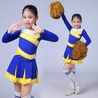 New Competition Cheerleaders Girl School Cheer Team Uniforms Kids Performance Costume Sets Girls Class Suit Girl