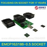 EMMC169 BGA221 EMCP162 General Test Base To USB Interface Of Mobile Phone Library Burning IC