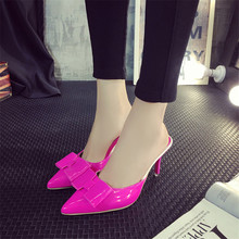 Women Sandals Red bottom high heels sexy high-heels large size shoes black slippers white female zapatos mujer