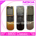 Original Nokia 8800 Classic Mobile Phone 2 G GSM Unlcocked 8800 russo árabe inglês Keyboard & Gold