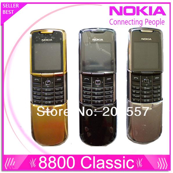 Original de Nokia 8800 Classic teléfono móvil 2 G GSM Unlcocked 8800 ruso árabe inglés Keyboard & Gold