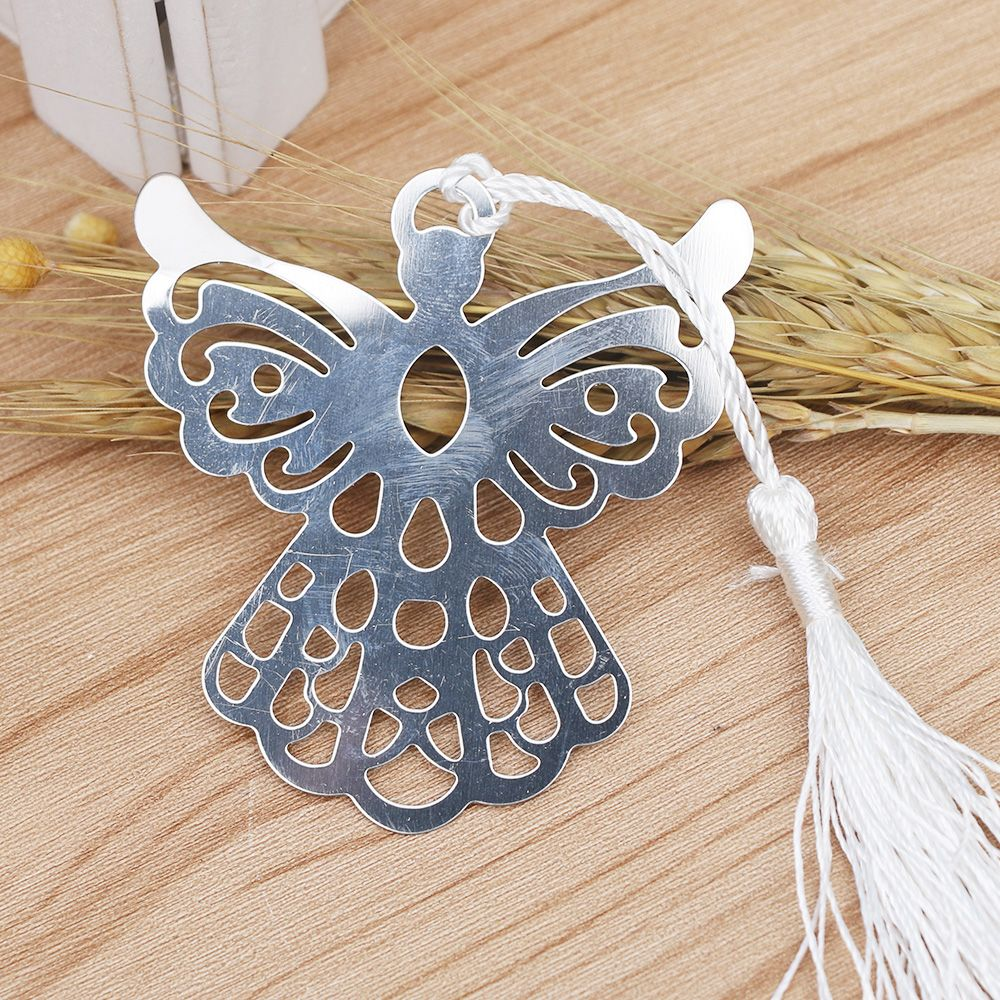 Holy Guardian ANGEL Alloy Bookmark Tassels Stationary Christening Wedding Favor Gift School Office Supplies Bookmarks