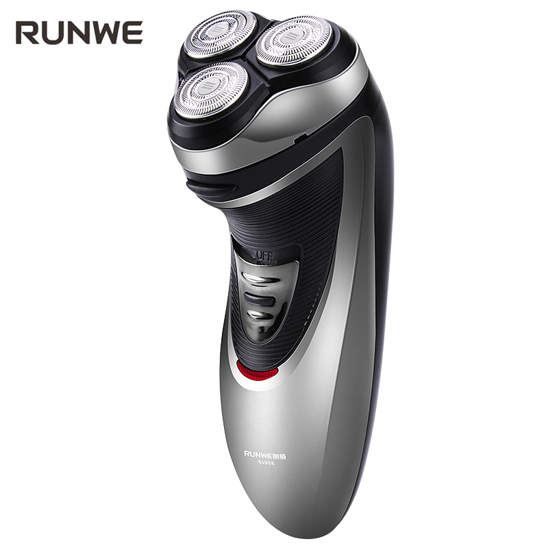 RUNWE Rechargeable Electric Shaver For Men Razor 3D Floating Shaving machine with Pop-up Trimmer Rs958 Face Care Razor kairui rechargeable tri floating loop speed foil shaver razor w trimmer ac 220v