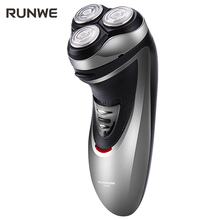RUNWE Rechargeable Electric Shaver For Men Razor 3D Floating Shaving machine with Pop-up Trimmer Rs958 Face Care Razor