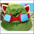 Envío de la venta caliente el swift scouts teemo lol sombrero hero alianza alrededor cospaly hat