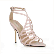 Hot Sale Sexy Open Toe Women Sandals Rome Gladiator High Heels Sandal Stiletto Heels Strappy Pumps Summer Shoes Woman 3845C-4d недорого