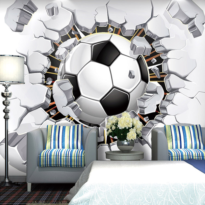 Cold! Soccer Photo Wallpaper 3D Wall Passion Wallpaper For