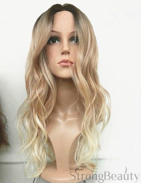 Ombre Perruque Bouclés De Mode Perruque Longue