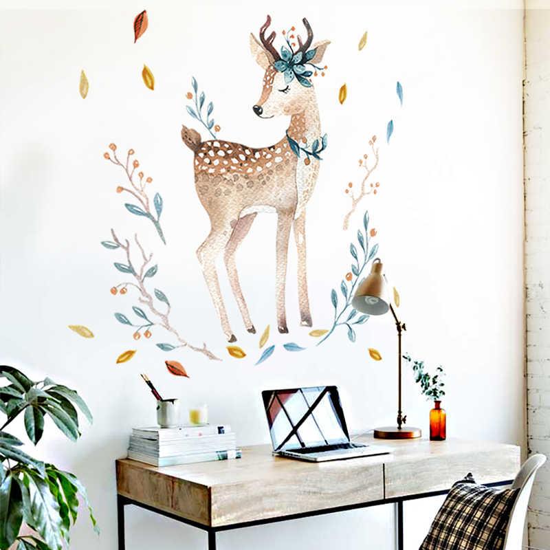 Schlafzimmer Wand dekor Deer wand aufkleber für kinder zimmer Tür aufkleber pvc-wand-aufkleber-wand-aufkleber muraux Hause wohnzimmer haus Dekoration Zubehör
