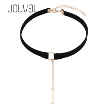 2016 Collares ZA Chokers Velvet Ribbon Choker Necklace Circle Statement Necklaces & Pendants Chockers Jewelry Christmas N1625
