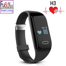 H3 Smartband Coronary heart Price Monitore Sensible Wristband Bracelet Well being Wrist Watch Name Alarm Vibrating for xiomi Android&ios cellphone