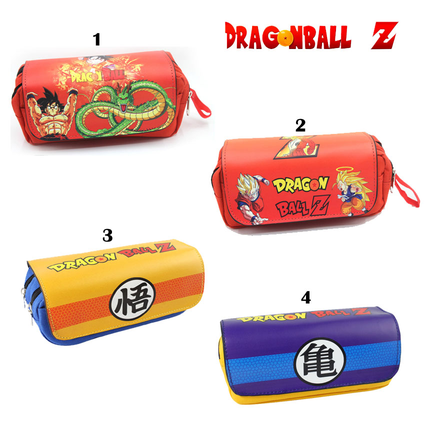 Dragon Ball Z Wallet Cosplay Son Goku Master Roshi Shenron Pencil Holder School Case Kids Pencil Bag Stationery bags Coin Purse