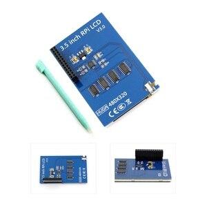 Image 2 - 3.5 pouce 480*320 écran tactile framboise Pi B/B + V3.0 Module daffichage à cristaux liquides de résistance de bouclier TFT avec le contrôleur du stylo tactile XPT2046