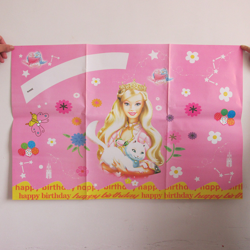 birthday decorations poster barbie princess 58*86cm baby shower party backdrops