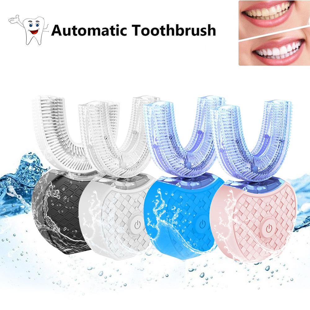 360 degrés brosse à dents électrique paresseux Silicone automatique ultrasons fréquence dents blanchissant outil de nettoyage brosse soins buccaux