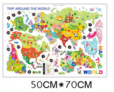 World Map Wall Decal Kids.Detail Feedback Questions About Colorful Cartoon World Map Wall