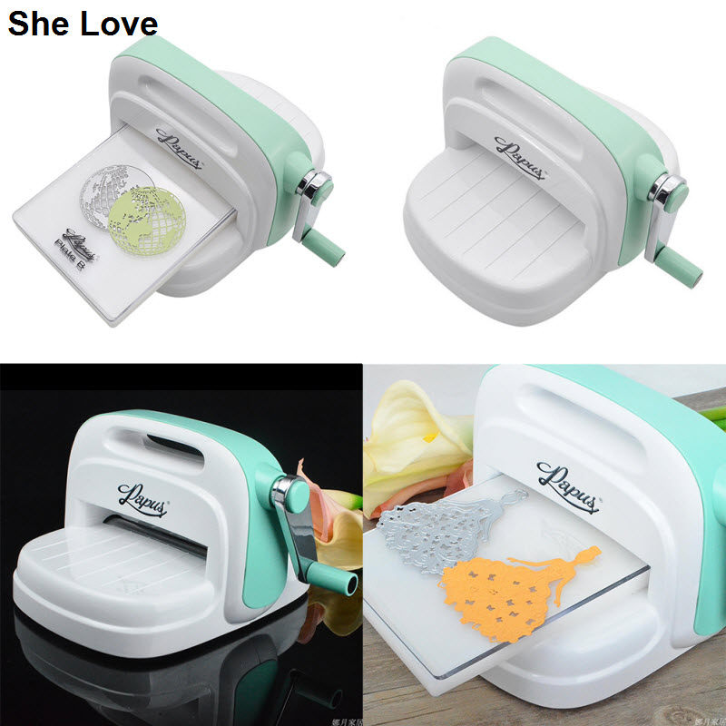 She Love Mini Die Cut Machine Die Cutting Embossing Machine Scrapbook DIY Craft Cutting Dies Cutter