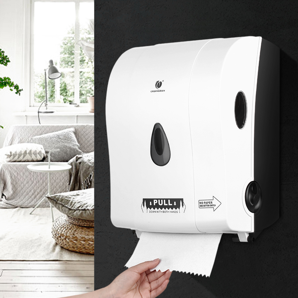 Bathroom Paper Towel Dispenser Home - Manual roll paper towel dispenser wall mount paper holder auto cut jumbo roll tissue dispenser